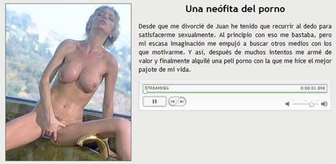 Una neofita del porno